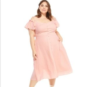 Gal Meets Glam Colleen Pink Polka Dot Dress 20